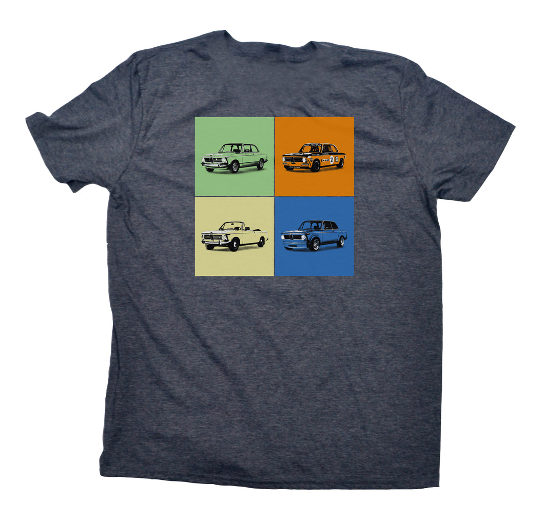 ICON 4-Square BMW 2002 T-Shirt