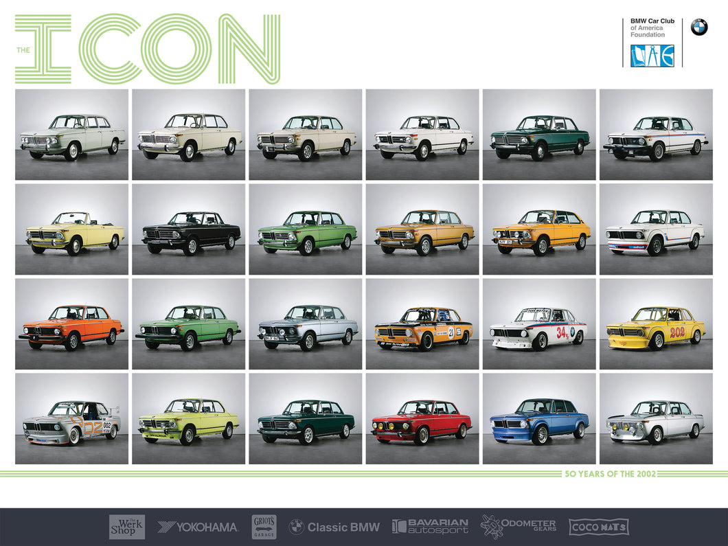 Poster - ICON Exhibit - BMW 2002