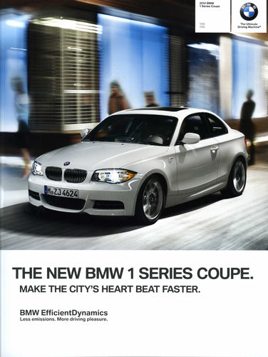 Brochure - 2012 BMW 1 Series Coupe 128i 135i - E82