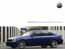 Load image into Gallery viewer, Brochure - BMW Alpina B7: Exclusively from BMW of North America. - 2007 E66 Brochure (1st version)