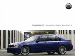 Brochure - BMW Alpina B7: Exclusively from BMW of North America. - 2007 E66 Brochure (1st version)
