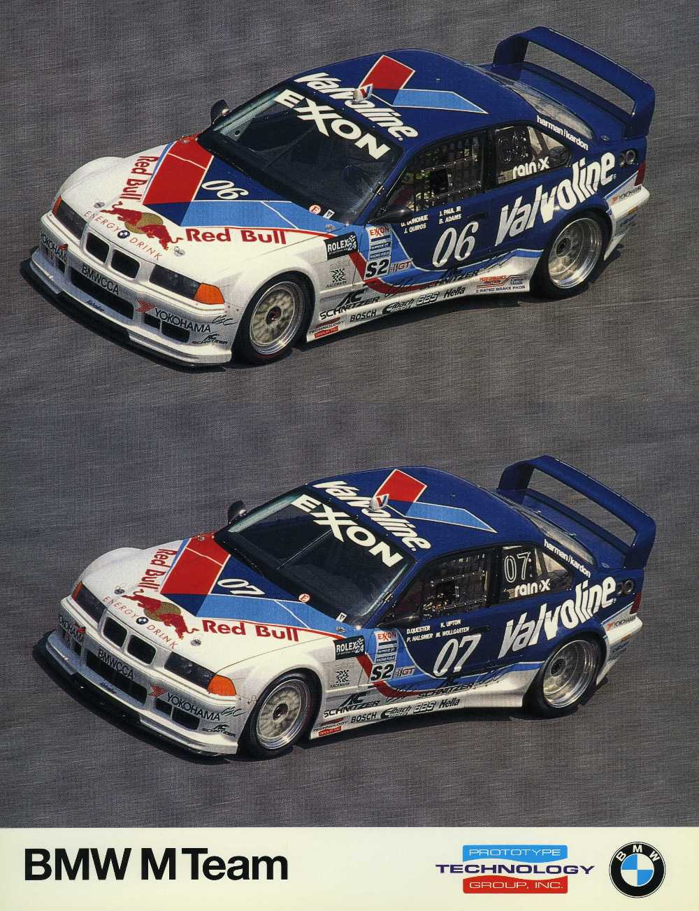 Signature Card - 1996 BMW M Team Prototype Technology Group (2 cars)