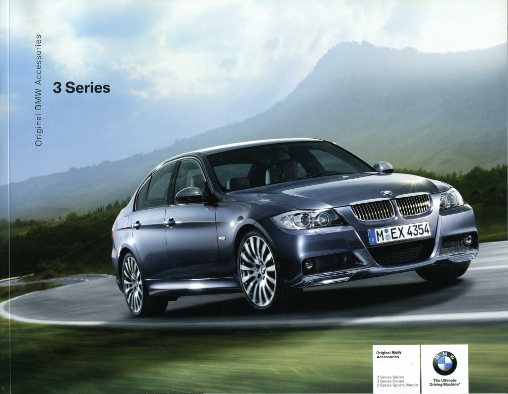 Brochure - Original BMW Accessories 3 Series Sedan Coupe Sports Wagon - 2006 E90 / E91 / E92 Brochure