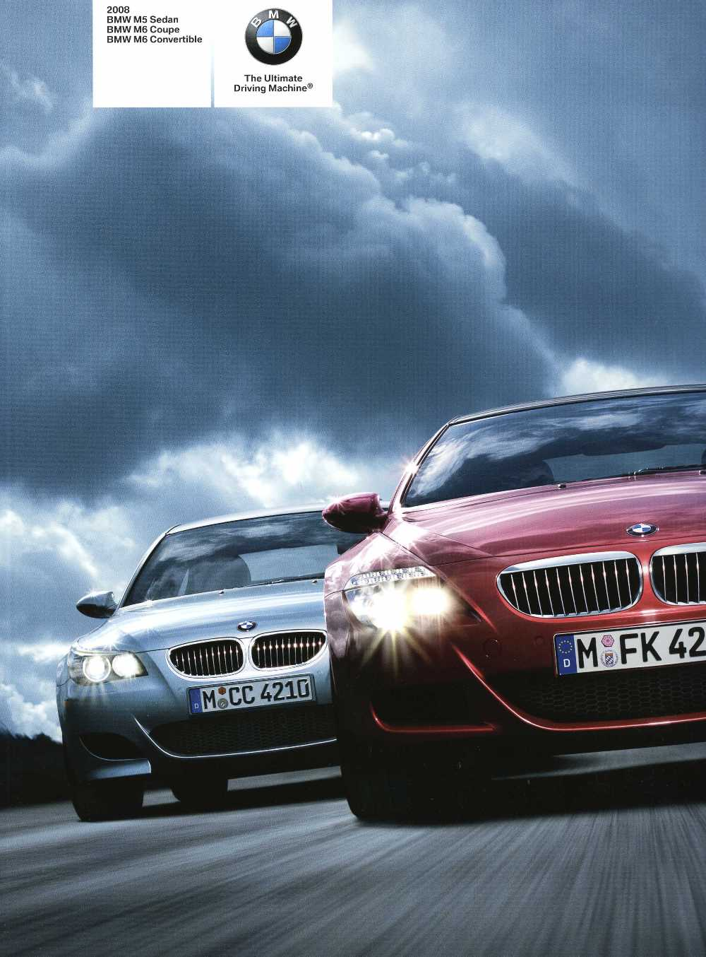 Brochure - 2008 BMW M5 Sedan BMW M6 Coupe BMW M6 Convertible - E60 M5 & E63 / E64 M6 (2nd version)