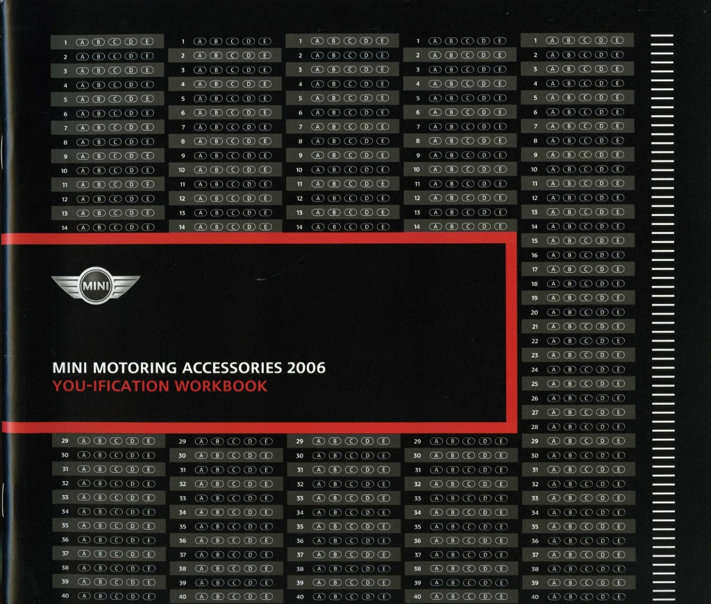 Brochure - MINI Motoring Accessories Brochure 2006