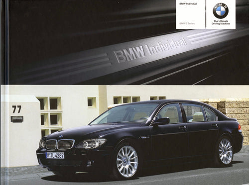Brochure - BMW Individual BMW 7 Series - 2006 E66 hard cover Brochure