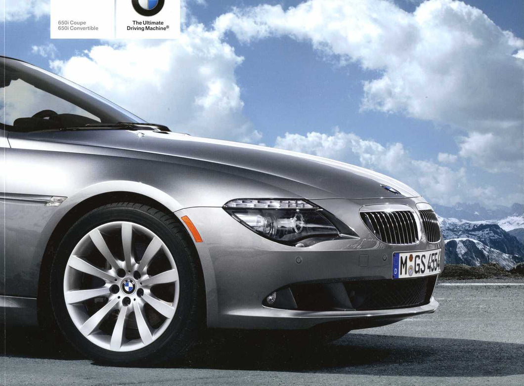 Brochure - 2009 BMW 6 Series 650i Coupe 650i Convertible - E63 / E64