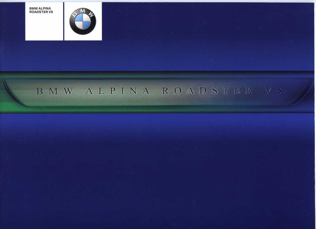 Brochure - BMW Alpina Roadster V8 - 2003 E52 Z8