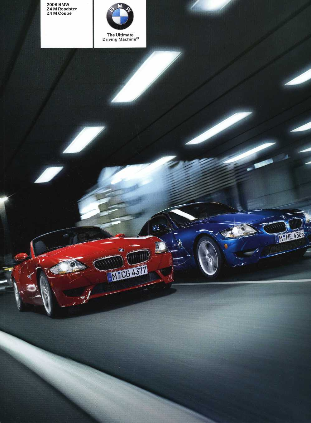 2008 BMW Z4 M Roadster Z4 M Coupe - E85 / E86 Brochure (2nd version) - S 9.3