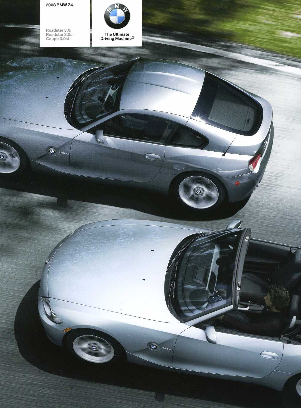 Brochure - 2008 BMW Z4 Roadster 3.0i Roadster 3.0si Coupe 3.0si - E85 / E86 (2nd version)