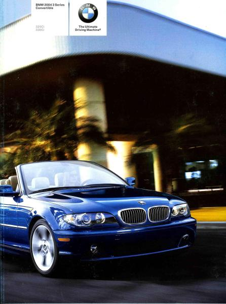 BMW 2004 3 Series Convertible 325Ci 330Ci - E46 Brochure (2nd version) - S 7.3