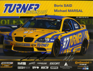 Autographed Signature Card - Turner Motorsport Team 2013 #97