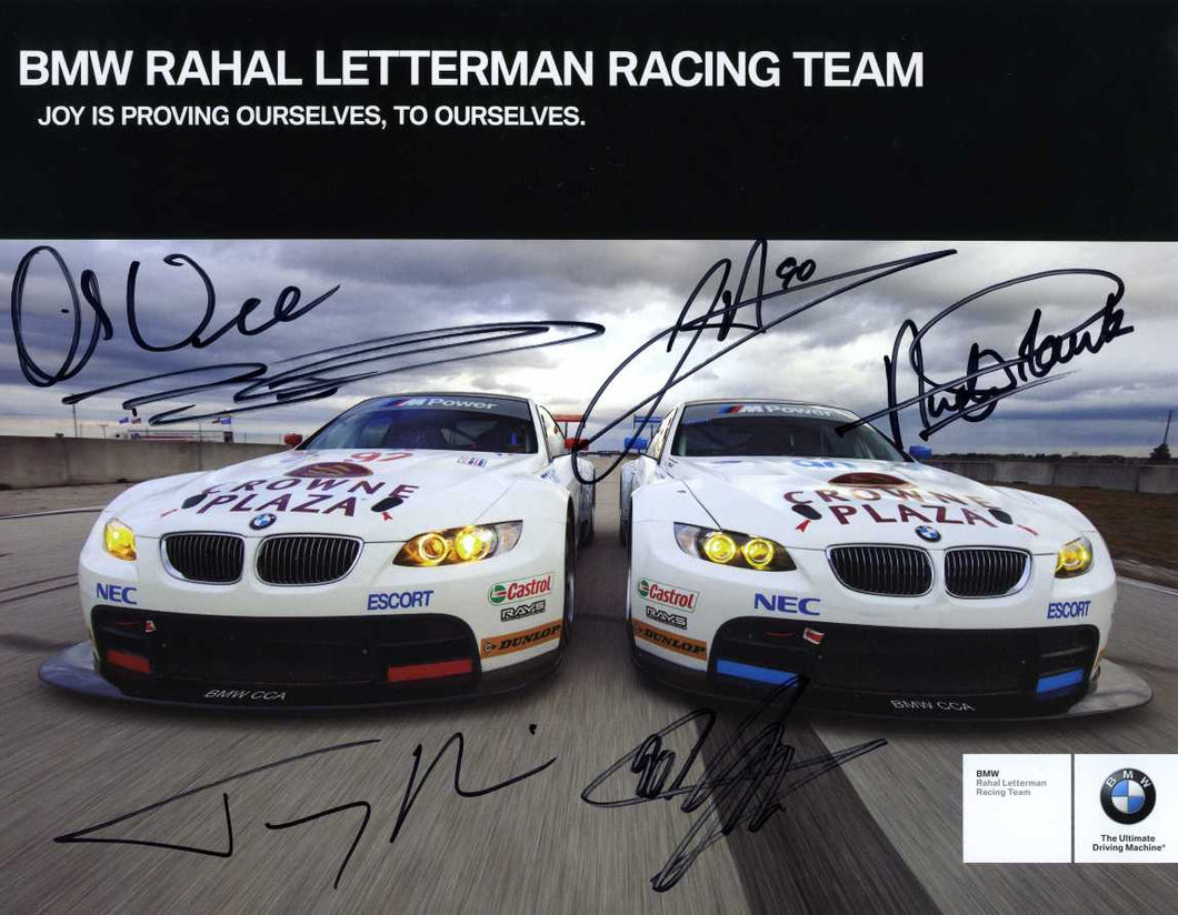 Autographed Signuature Card - BMW Rahal Letterman Racing Team 2010