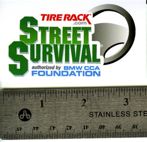 "Tire Rack Street Survival Decal - 3.5"" - S 3.4"