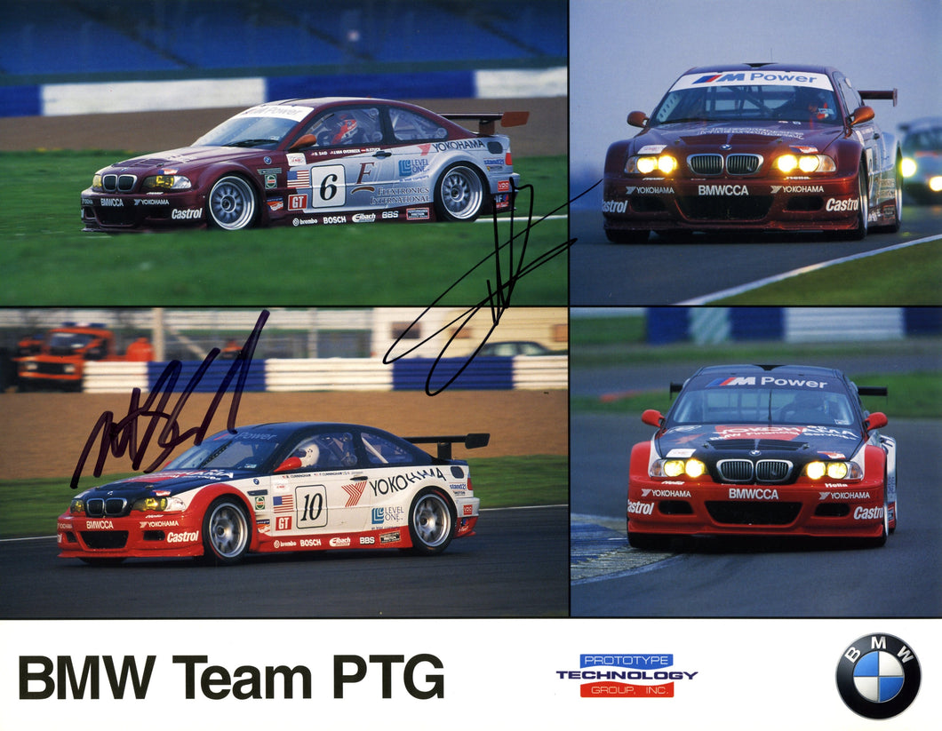 Autographed Signature Card - 2000 BMW Team PTG