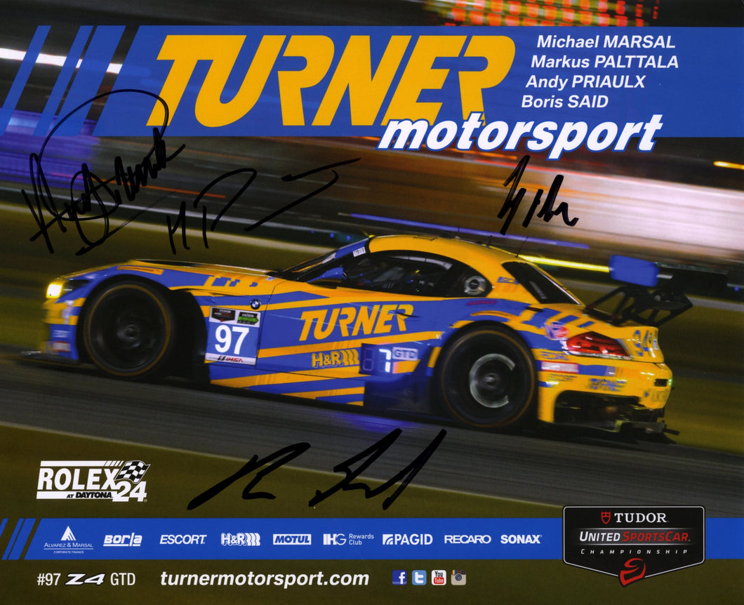 Autographed Signature Card - Turner Motorsport Team 2015 #97 Signature Card