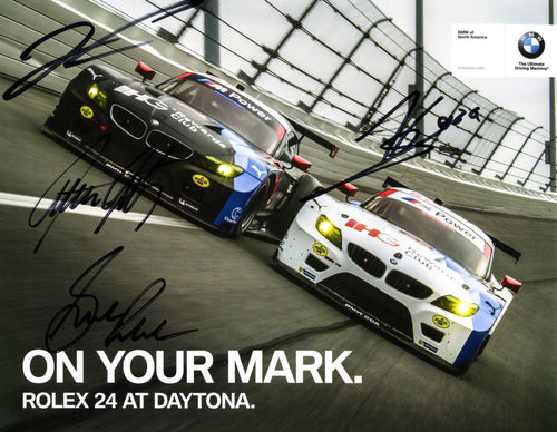 Autographed Signature Card - 2015 BMW Team RLL Signature Card