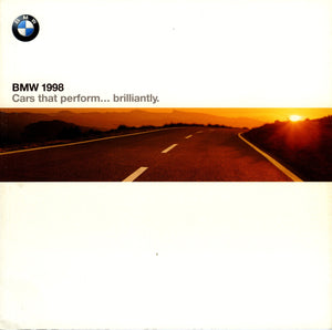 Brochure - BMW 1998 Cars that perform...brilliantly. - Full Model Line