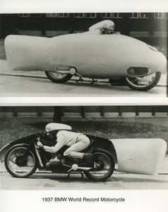 Press Photo - 1937 BMW World Record Motorcycle Press Photo
