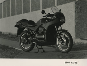 Press Photo - BMW K75S Motorcycle Press Photo (1st version)