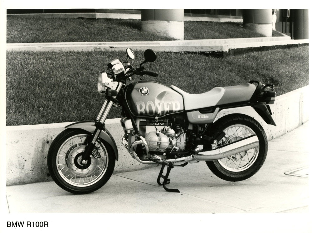 Press Photo - BMW R100R Motorcycle Press Photo