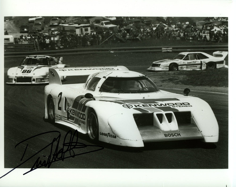 Autographed Press Photo - BMW M1/C Kenwood Stereo Press Photo - Autographed by David Hobbs