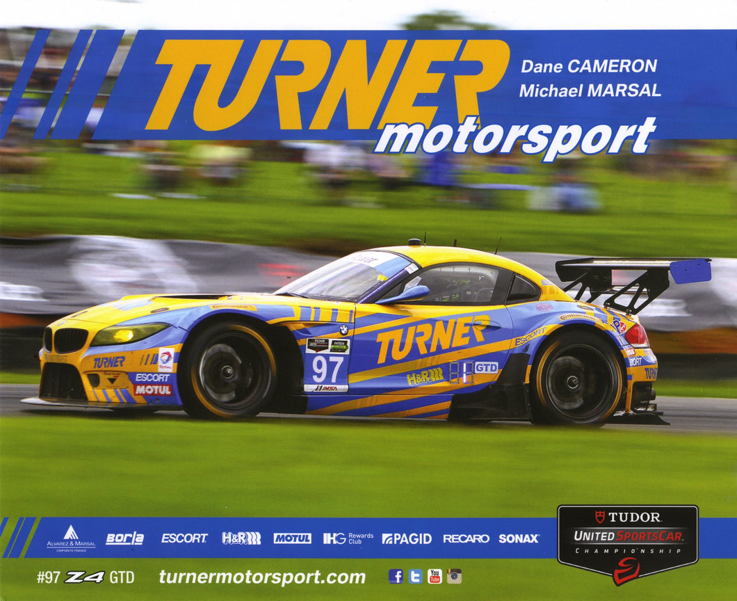 Signature Card - Turner Motorsport #97 Z4 GTD Signature Card - 2015