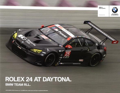 Signature Card - Rolex 24 At Daytona. BMW Team RLL. Signature Card - 2016