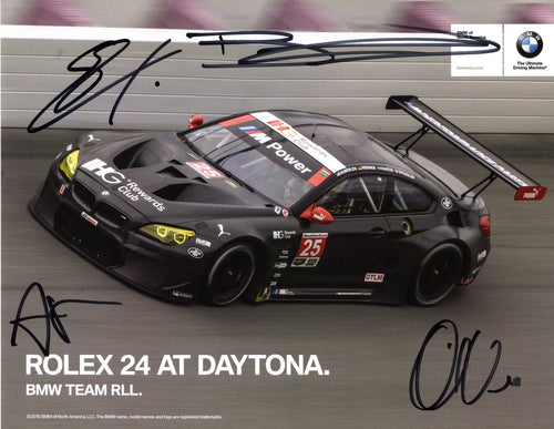 Autographed Signature Card - Rolex 24 At Daytona. BMW Team RLL - 2016