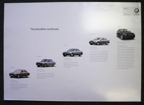 Poster - The bloodline continues. BMW 5 Series History Poster