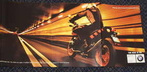 Make every tunnel a wind tunnel. - 2004/2005 Full Model Line BMW Motorcycle Brochure - S 10.3