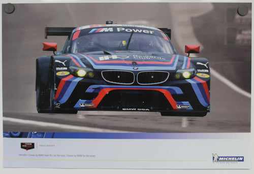Poster - Michelin: Chosen by BMW Team RLL for the track. Chosen by BMW for the street. BMW E89 Z4 GTLM