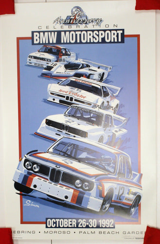 Autographed Poster - 20th Anniversary Celebration BMW Motorsport October 1992