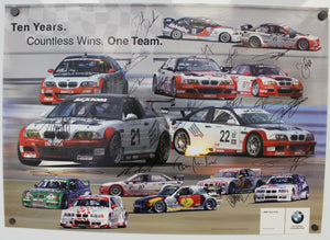 Autographed Poster - Ten Years. Countless Wins. One Team. BMW PTG 10th Anniversary Racing