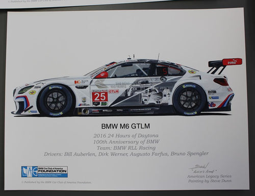 Print - BMW M6 GTLM 2016 24 Hours of Daytona