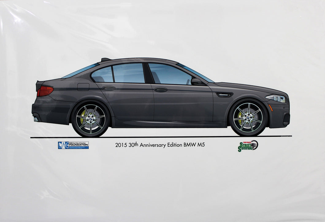Print - 2015 30th Anniversary Edition BMW M5 - Grey