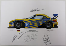 Load image into Gallery viewer, Print - BMW Z4 GTD 2014 IMSA Tudor United SportsCar Champion - Autographed
