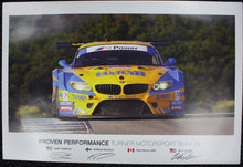 Load image into Gallery viewer, Autographed Poster - Proven Performance Turner Motorsport BMW Z4 - E89 Z4 GTD