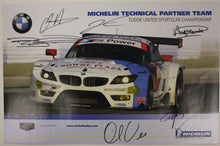 Load image into Gallery viewer, Autographed Poster - Michelin Technical Partner Team Tudor United SportsCar Championship - E89 Z4 GTLM
