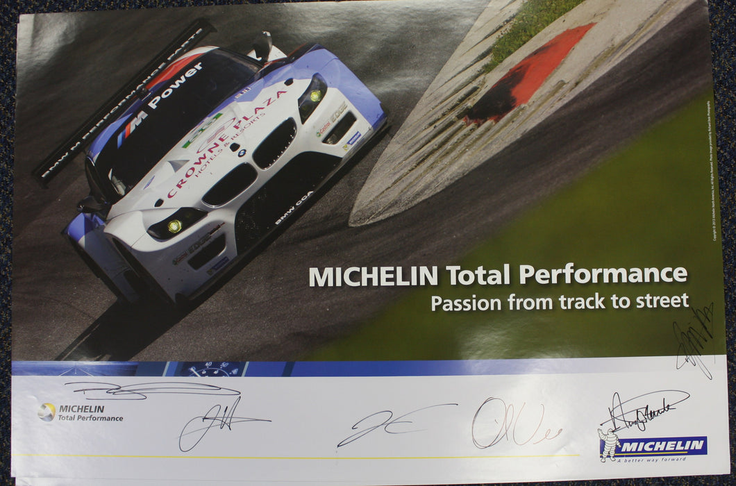 Autographed Poster - Michelin Total Performance Passion from track to street - BMW RLL E89 Z4 GT