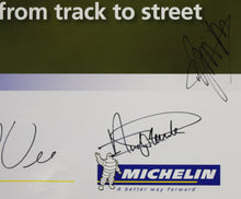 Load image into Gallery viewer, Autographed Poster - Michelin Total Performance Passion from track to street - BMW RLL E89 Z4 GT