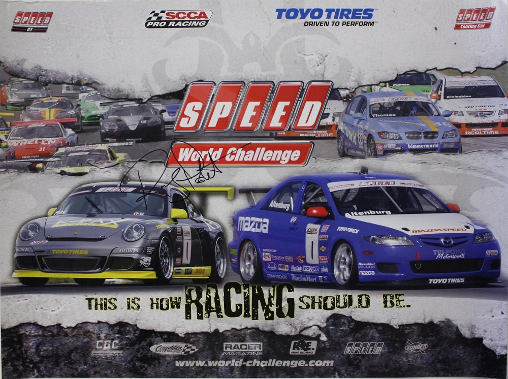 Autographed Poster - Speed World Challenge GT / Touring Car
