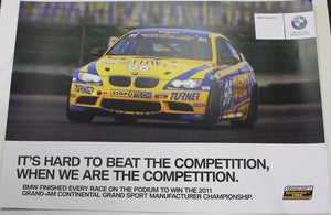 Poster - Looks like someone knows...It's Hard to Beat...BMW Riley & Turner Motorsport E92 M3 - Double Sided Poster