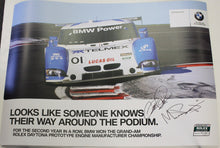 Load image into Gallery viewer, Autographed Poster - Double Sided Looks like someone knows...It's Hard to Beat...BMW Riley & Turner Motorsport E92 M3