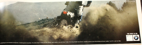 Poster - The forecast for Baja? Dust storms. BMW HP 2 / HP2 Poster - oversize