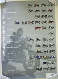 Poster - BMW Motorcycle Motorrad 2005 Program