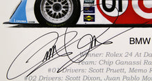 Load image into Gallery viewer, Autographed Print - BMW Riley Print - Winner of the 2011 Rolex 24 At Daytona Race