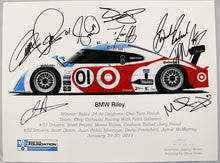Load image into Gallery viewer, Autographed Print - BMW Riley - Winner of the 2011 Rolex 24 At Daytona Race