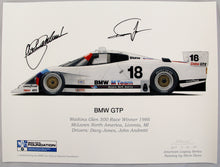 Load image into Gallery viewer, Autographed Print - BMW GTP 1986 Watkins Glen Print