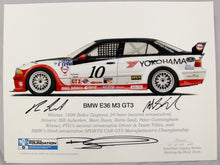 Load image into Gallery viewer, Autographed Print - BMW E36 M3 GT3